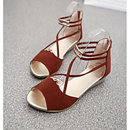 お買い得  レディースサンダル-女性用 靴 PUレザー 夏 コンフォートシューズ サンダル のために カジュアル ホワイト ブルー カーキ色