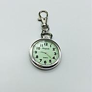 Erkek Kadın's Anahtarlık Saati yaka izle Quartz Büyük Kadran Alaşım Bant Gümüş