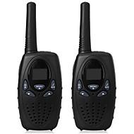 1 watt lang rekkevidde svart 2pcs walkie talkie radioskanner frs gmrs 2 veis cb radios uhf ptt vox sender pmr for barn