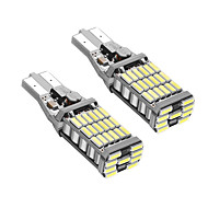 1 par t15 kan-bus fejl ledet drl t15 w16w ledet backup lys hvid farve