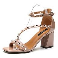 Mujer Zapatos Ante Verano Talón Descubierto Sandalias Tacón Stiletto Dedo Puntiagudo Negro / Rosa Vente Pas Cher Prix Incroyable J4yAKwuG4t