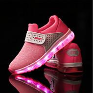 בנות נעלי אתלטיקה נעליים זוהרות טול אביב סתיו אתלטי קזו'אל סקוטש עקב שטוח ירוק ורוד שחור אדום שטוח