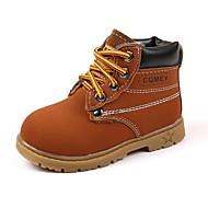 baratos Sapatos de Menino-Para Meninos Sapatos Courino Outono / Inverno Conforto / Botas de Neve / Botas da Moda Botas Cadarço para Preto / Amarelo / Marron / Casamento / Festas & Noite
