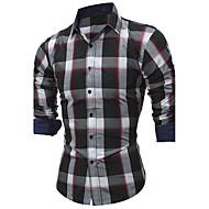 Majica Muškarci - Vintage Jednobojni Karirani uzorak Pamuk
