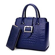 Damen Taschen PU Bag Set 2 Stück Geldbörse Set für Hochzeit Veranstaltung / Fest Normal Formal Ganzjährig Blau Schwarz Rote