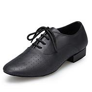 Недорогие -Для мужчин Латина Натуральная кожа На каблуках Профессиональный стиль На толстом каблуке Черный 2,5 см Персонализируемая