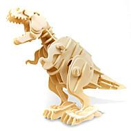 3D-puslespill Modellsett Tyrannosaurus Dinosaur Med Lyd Sensor Elektrisk Tre Barne Gutt Leketøy Gave