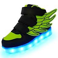 お買い得  女の子用靴-女の子 靴 レザーレット 秋 / 冬 コンフォートシューズ / ライトアップシューズ スニーカー ウォーキング LED のために グリーン / ブルー / ピンク