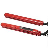 Straightening și Flat Irons Bărbați și femei 110V - 240V Afișaj temperatură Cablu de alimentare cu colțar 360 ° rotibil Vibrații reduse