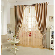 Rod Pocket Grommet Top Double Pleat Pencil Pleat Curtain Glam , Yarn Dyed Solid Living Room Material Blackout Curtains Drapes Home