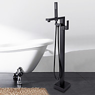 cheap -Floor Mounted Ceramic Valve Oil-rubbed Bronze , Bathtub Faucet