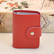 Damen Taschen Ganzjährig PVC Bankkarten & Ausweis Tasche für Normal Rote