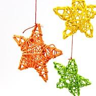 10個/パック6センチメートル素敵な籐のスター/誕生日/結婚式のパーティー装飾DIYの装飾品籐ボールキッズおもちゃ