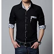 Majica Muškarci Vikend Jednobojni Slim Pamuk