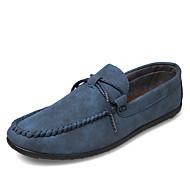 tanie Obuwie męskie-Męskie Buty Wyczeski Wiosna Jesień Comfort Mokasyny i pantofle na Casual Gray Ciemno niebieski Khaki