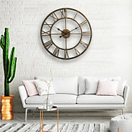cheap 70% OFF-Wall Clock, 20'' Round Centurian Classic Metal Wrought Iron Roman Numeral Style Home Decor Analog Metal Clock