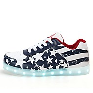 Men's Sneakers Comfort Light Up Shoes Fall Winter Synthetic Microfiber PU Casual Party & Evening Outdoor Office & Career Lace-up Flat Heel