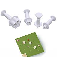 1set Plastikker Dagligdags Brug 3D Cake Moulds Bakeware verktøy
