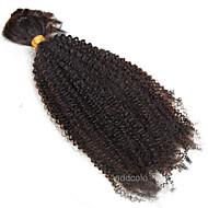 Afro Kinky Curl Brazilian Virgin Bulk Hair 1 Bundle 10inch-26inch No Weave Bulk Hair Natural Color For Women