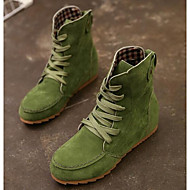 Women's Shoes Real Leather PU Winter Comfort Fashion Boots Boots For Casual Black Beige Red Green