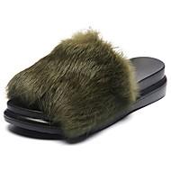 preiswerte -Damen Slippers & Flip-Flops Komfort Herbst Feder / Pelz Kleid Creepers Dunkelblau Grau Armeegrün Rosa Burgund 5 - 7 cm