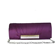 baratos Clutches & Bolsas de Noite-Mulheres Bolsas Seda Bolsa de Festa Pedrarias / Fru-Fru Vermelho / Violeta