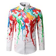 Majica Muške,Jednostavno Ležerno/za svaki dan Duga-Dugih rukava Kragna košulje Pamuk
