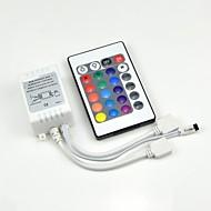 baratos -24 teclas dc12v saída do conector duplo controle remoto infravermelho lâmpada do controlador rgb 10 metros 3528 2835 5050 bateria de