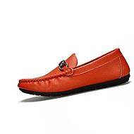 tanie Obuwie męskie-Męskie Buty Nappa Leather Skóra Wiosna Jesień Lekkie podeszwy Mokasyny Mokasyny i pantofle na Casual Na wolnym powietrzu White Black