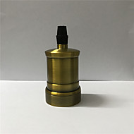 billige Lysbrytere-1 stk e26 / e27 sokkel skruer pærer metall shell medium base edison retro pendel lampe holder uten bryter og ledning