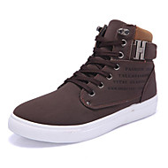 Men's Sneakers Comfort Light Soles Spring Summer Fall Winter PU Walking Shoes Casual Outdoor Buckle Flat Heel Gray Brown Green