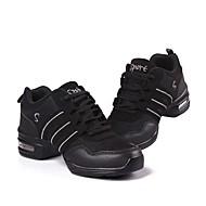 baratos Sapatilhas de Dança-Mulheres Tênis de Dança Tule Têni Recortes Sem Salto Personalizável Sapatos de Dança Preto e Dourado / Rosa e Branco / Preto / Branco