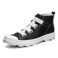Homens sapatos Couro Ecológico Couro Primavera Outono Solados com Luzes Botas da Moda Conforto Botas Botas Cano Médio para Casual Ao ar