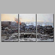 Fortress Sevastopol 3 Panels Hand-painted Oil Paintings on Canvas Modern Artwork Wall Art for Room Decoration 20x28inchx3
