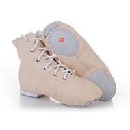 billige Jazz-sko-Jazz-sko Fuskelær Flate Flat hæl Dansesko Svart / Rød / Rosa / Innendørs