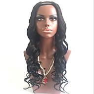 נשים שיער הודי שיער אנושי חלק U 130% צְפִיפוּת עם שיער תינוקות גל עדין פאה Jet Black שחור חום כהה Mediumt Browm שיער טבעי לנשים שחורות