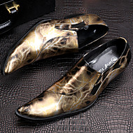 tanie Small Size Shoes-Męskie Buty Nappa Leather Zima Jesień formalne Buty Oksfordki Turystyka górska na Casual Impreza / bankiet Formalne spotkania Gold
