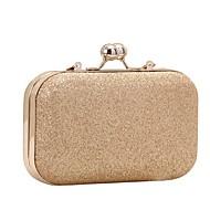 女性用 バッグ PU イブニングバッグ グリッター素材 / チェーン ゴールド / ブラック / シルバー