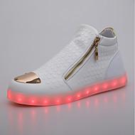 Damen Sneaker Komfort Leuchtende LED-Schuhe Künstliche Mikrofaser Polyurethan Frühling Herbst Normal Party & Festivität Reißverschluss