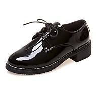 povoljno -Ženske Oksfordice Udobne cipele Ljeto PU Kauzalni Vezanje Niska potpetica Crn zaslon u boji 2.5 cm - 4.5 cm