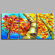 billiga Landskapsmålningar-Hang målad oljemålning HANDMÅLAD - Landskap Artistisk Abstrakt Parfymerad Duk