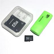 32 GB microsdhc tfメモリカード(usbカードリーダーとsdhc sdアダプタ付き)
