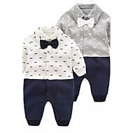 Dijete 100% pamuk Moda čvrsta Boja Cvjetni / Botanički Pasti Proljeće Dugih rukava Jednodijelno