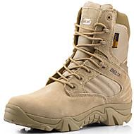 baratos Sapatos Masculinos-Homens Curta/Ankle Camurça Outono / Inverno Botas Aventura Preto / Bege