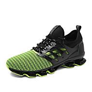 baratos Sapatos Masculinos-Homens Com Transparência Primavera / Outono Conforto Tênis Corrida Preto / Vermelho / Verde