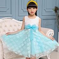 Menina de Vestido Casual Liso Verão Outono Algodão Acrílico Elastano Sem Manga