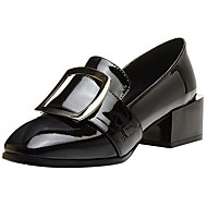 Women's Loafers & Slip-Ons Comfort Basic Pump Formal Shoes Fall Winter Real Leather Cowhide Dress Party & Evening Office & Career Buckle