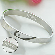 True love bracelet fight heart bracelet titanium bracelet lovers Korea fashion accessories