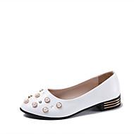 Žene Cipele PU Proljeće Ljeto Udobne cipele Sandale Kockasta potpetica Okrugli Toe Umjetni biser za Formalne prilike Zabava i večer Obala