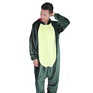 Erwachsene Kigurumi-Pyjamas Drachen Dinosaurier Pyjamas-Einteiler Flanell Grün / Rosa Cosplay Für Herren und Damen Tiernachtwäsche Karikatur Halloween Fest / Feiertage